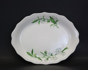Vintage Syracuse China Platter w/ Apple Blossom Pattern (E1480)