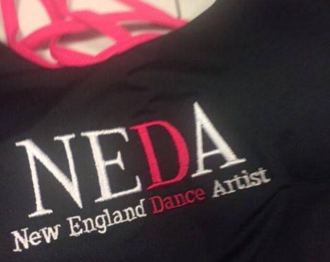 Monogrammed Dance T'Shirt, Monogrammed  Dance Shirt, Monogrammed Shirt Built In Bra,Monogrammed Dance, Cheer, Dance, Girls, Teens, Workout,