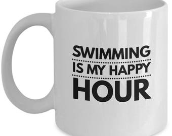 Swimming Is My Happy Hour Mug