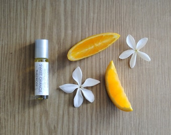 Sweet Orange Tuberose Perfume Oil, Roll On Scent Citrus Floral Fragrance Essential Oil
