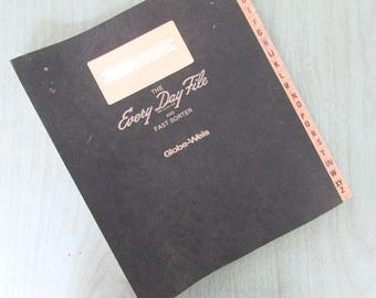 The Every Day File Vintage Globe Weis Vintage Office Supply Bill Organizer