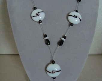 Original black and white necklace