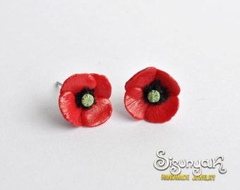 Poppy Earrings - post/stud earrings - Gifts for her