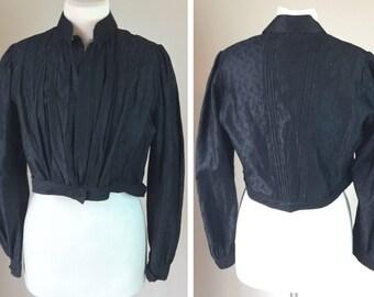 Antique Edwardian Black Silk Jacket
