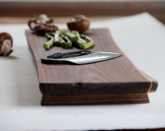 Walnut Cutting Board Natural Edge Serving Tray Eco Friendly
