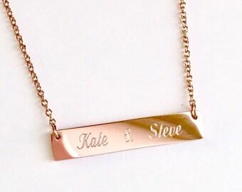Bridesmaid Gift Discount, Bridesmaid Necklace, Bar Necklace Initial Bar Necklace , Personalized Bar Necklace