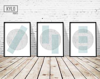 Geometric Print Set, Abstract Print, Modern Print, Scandinavian Print, Home Wall Art, Abstract Art, Scandinavian Wall Art, Digital Download