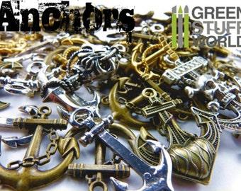 Set 85gr. - ANCHOR Beads Mix - 20-25 units - sizes 1-5cm - Pirate Steampunk set
