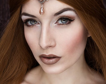 The crystal fairy fantasy circlet-gothic circlet-silver circle-fantasy circlet-gothic jewelry-gothic fantasy circlet-gothic headpiece