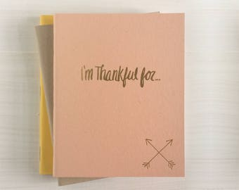 i'm thankful for pressed pocket journal with crossed arrows