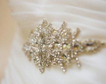 Disposé, guillotine, ceinture de strass, ceinture mariée cristal strass Applique mariée robe Sash mariée ceinture ceinture de mariée cristal ceinture