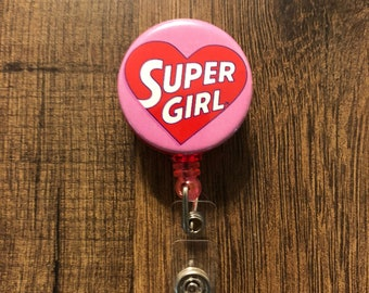 Supergirl Retractable Badge Holder