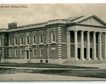Grace Hall Williams College Massachusetts 1910s postcard