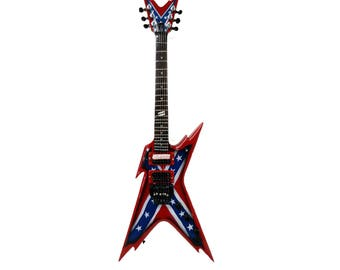 "Dimebag Darrell's ""Razorback Rebel Guitar"": Miniature Guitar Replica"