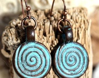 Mykonos Spiral Earrings, Dangle Earrings,Jewelry