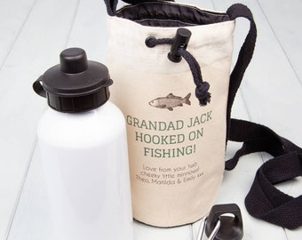 Personalised Fishing Water Bottle Bag