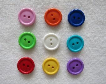 19 mm round button