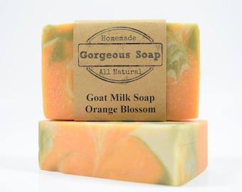 Orange Blossom Goat Milk Soap - All Natural Soap, Handmade Soap, Homemade Soap, Handcrafted Soap