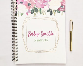 Pregnancy journal, expecting mom gift, personalized, pregnancy planner, pregnancy countdown book, pregnancy book, pregnancy tracker, custom