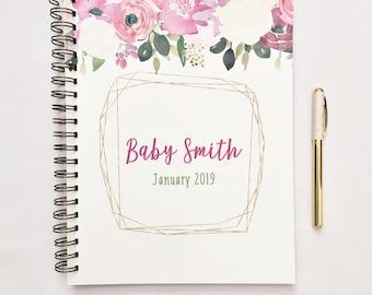 Journal de grossesse, attendez le cadeau de maman, personnalisé, planificateur de la grossesse, livre de compte à rebours de grossesse, livre de grossesse, tracker de la grossesse, sur mesure