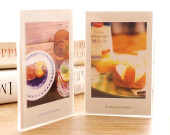 Double Mini Photo Frame Fujifilm Instax Mini Film Holder Transparent