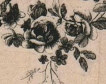 Rubber stamp   Rose Arrangement botanical illustration   number 14042  plant   flower craft stamping plate supplies
