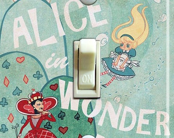 Alice in Wonderland Single Switch Plate  ***FREE SHIPPING***