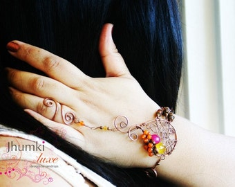 BESPOKE Divija /// Slave Bracelet by Jhumki Luxe - designs by raindrops