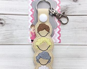 The Golden Gals Keychain -Golden Girls Keychain - Golden Girls Key Chain - Squad Goals Keychain -Golden Girls