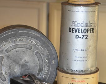 Repurpose Lamp from Vintage Photography Developing Compound Tins