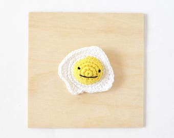 Egg Crochet Brooch | Handmade Crochet Pin, Handmade Brooch, Crochet Accessory, Pin Collector, Yarn Pin, Yarn Brooch, Egg Brooch, Egg Pin