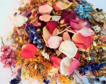 WILDFLOWER CONFETTI, ecofriendly wedding, biodegradable confetti, flower petals, flower confetti, bridal flowers, for fairy tale endings