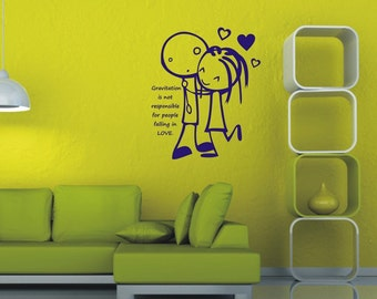 Wall sticker - Falling in love (3388n)