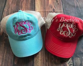 Monogrammed Baseball Hat- Womens Hat- Monogram hat -Monogrammed cap -Womens baseball hat -bridesmaids hats, Bridesmaid gift- Graduation gift