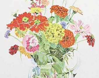 Arthur Cady The Country Bouquet 1972 Original Lithograph