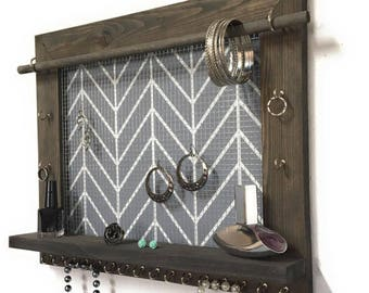 Wood Frame Jewelry Organizer