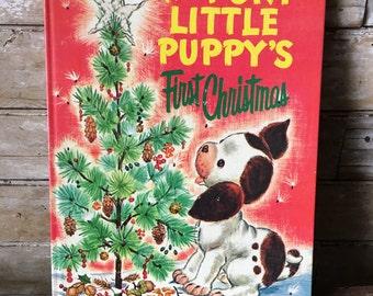 Poky Little Puppy First Christmas Golden Press oversized hardback 1973