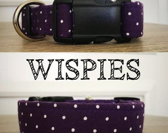 Wispies- Dark Purple Polka Dot Collar