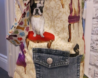 dogs just recycled tote bag