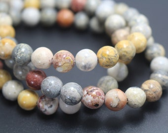 Sky Eye Jasper Beads,6mm/8mm/10mm/12mm Natural Smooth and Round Jasper Beads,15 inches one starand