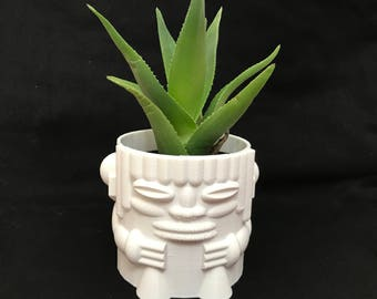Tiki God Planter/Tiki planter/Garden/Pot/succulent planter/mini planter/Tiki God/Gardening/for her/mini planter/garden/cactus planter/for hi