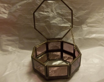 Via Vermont Glass and Brass Box