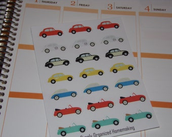 VW Stickers / Bug / Beetle / Car Stickers / Scrapbooking / Life Planner