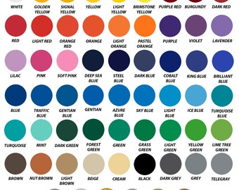 "Oracal 651 Solid Colors, 12"" X 10 Yards, Adhesive Vinyl, Permanent Vinyl, All Colors, Fast Shipping"