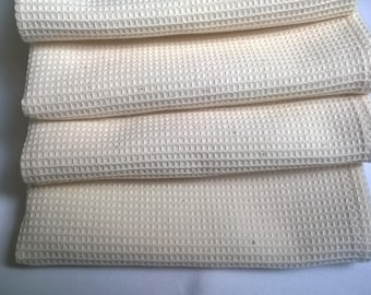 4 towels honeycomb 100% unbleached cotton 69 X 45 cm