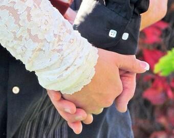 Wedding Shrug Bolero, BRIDAL Cover Up, Bridal Shrug, Wedding Bolero, with Gathered Cuff, Unlined
