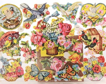 Vintage Quick and Easy Paper Scraps for Decoupage, Arts and Crafts. Flowers 3060