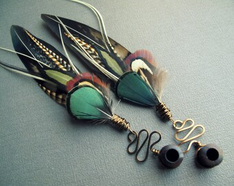 Dangle Plugs - Gauge Earrings - Feather Plugs - Wood Plugs - Stone Plugs - Custom Plugs Tunnels - 2g 0g 00g Plugs - 5/8 9/16 1/2 Inch Plugs