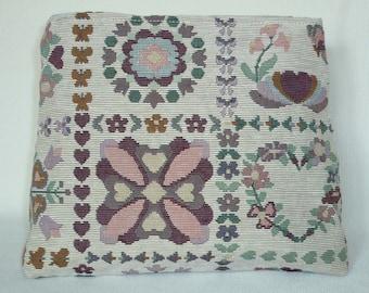 Jacquard pattern of stylized flowers Kit