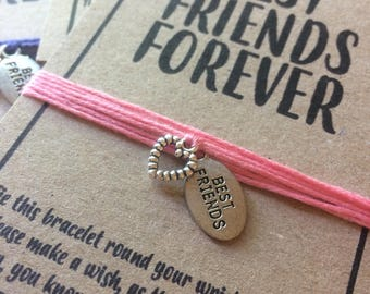 Best Friends Forever wish charm bracelet